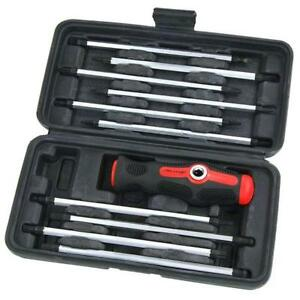 Ct4802 11pc Boxed Screwdriver Set With Straight T Bar T bar Handle In Case