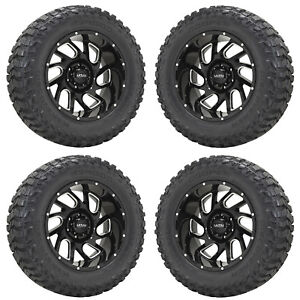 20x10 Ultra Carnage 221 Silverado Sierra 1500 Truck Wheels Rims Tires 20 Set 4