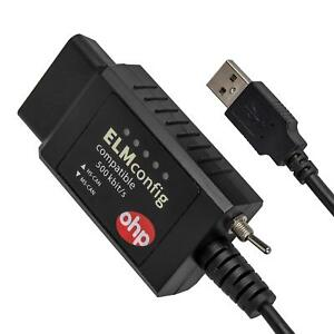 Ohp Elmconfig Elm327 Obd2 Usb With Hs can And Ms can Switch For All Windows