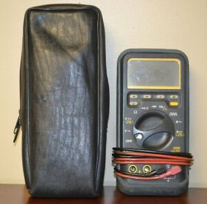 Wavetek 2030 True Rms Multimeter W testers And Case Untested