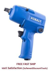 Kobalt 0 5 In 400 Ft Lbs Air Impact Wrench 1 2 Inch Sgy Air227 Durable All Metal