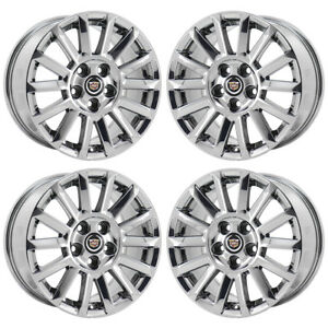 17 Cadillac Cts Pvd Chrome Wheels Rims Factory Oem Set 4668 Exchange