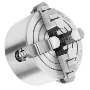 Key Handle Recessed Back 100mm 4 4 Jaw Metal Lathe Chuck Independent Jaws