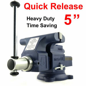 Quick Release 5 125mm Heavy Duty Engineers Bench Vice 6 Opening Semi Precision