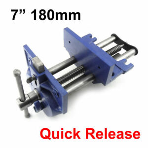 7 Quick Release Woodworking Vise Open 8 1 4 Double Guided Gray Cast Iron