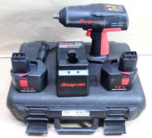 Snap on Ct310 3 8 12v Cordless Impact Wrench Batteries Charger Ctb312 Ctc300