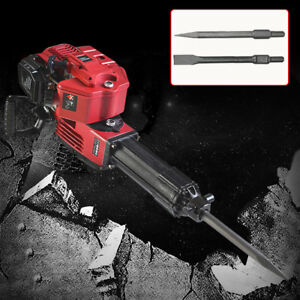 1700w Demolition Concrete Jack Hammer 1500rpm With 2 Chisel Bits Brand New Usa