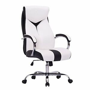 White And Black Executive High back Office Chair Desk Chair Gaming Chair