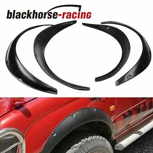 4pcs 840mm Universal Fender Flares Flexible Durable Polyurethane Car Body Kit