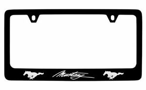 Ford Mustang Black Metal License Plate Frame