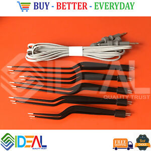 American Bipolar Forceps Electro Surgical Reusable Non Stick Forceps With Cable