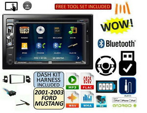 01 02 03 Ford Mustang Cd Dvd Aux Touchscreen Bluetooth Radio Stereo Kit