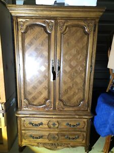 Thomasville French Provincial Chest Drawer Dresser Armoire Cabinet Shabby Chic