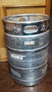 Anheuser Busch Empty 1 2 Barrel Stainless Steel Beer Keg Brewing Table Base