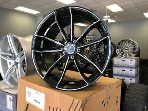 20x9 20x10 5 Lenso Axe Lenso Cqe Staggered Wheels Black Milled Mustang