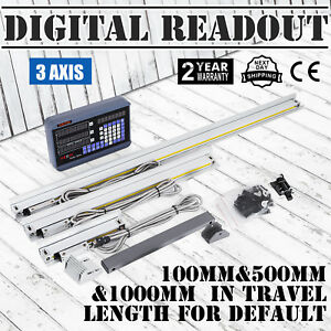 3 Axis Digital Display Readout Dro For Mill Lathe Machine And 3 Linear Scal