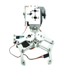 Metal 2 Dof Robotic Mechanical Arm Claw Gripper Kit With Servo For