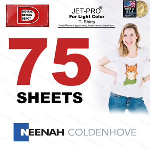 Jet Pro Softstretch Inkjet Heat Transfer Paper 8 5x11 75 Sheets Free Ship