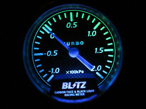 Blitz Carbon Face Black Light Boost Gauge Meter Blm