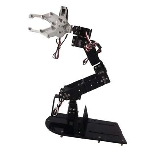 Manipulator Servo Control 6 Dof Robot Arm Gripper Claw Kit With Servo Black