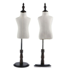 2 Pcs Tailor Store Mannequin Torso Model Kid s Dress Form Clothing Display