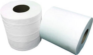 Huskypapers White Paper Towel 2 Core 350 Ft Roll 12 Case New