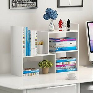 Wooden life Wood Adjustable Desktop Storage Organizer Display Shelf Rack Off
