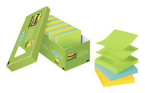 Post it Pop Up Notes 3 X 3 Inches Jaipur Colors 18 Pads With 100 Sheets Each