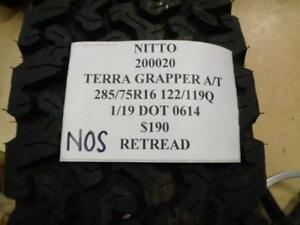 1 Retread Os Nitto Terra Grappler A T 285 75 16 122 119q Tire Wo Label 200020 Q9