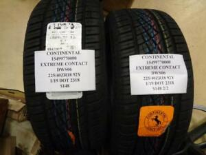 2 Continental Extreme Contact Dws06 225 40 18 92y Tires W Label 15499770000 Q9