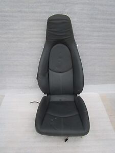 04 12 Porsche Carrera 911 997 Boxster 987 R Stone Grey Leather Seat Oem