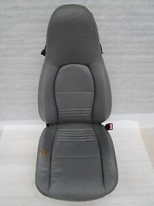 97 05 Porsche Carrera 911 996 Boxster 986 R Graphite Grey Leather Seat Oem