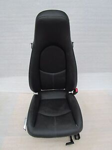 04 12 Porsche Carrera 911 997 Boxster 987 R Black Leather Seat Oem