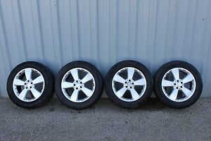 Mercedes 19x8 5 Lug 112mm Complete Set 4 Wheels And Tires 1644014702