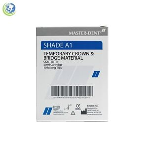 Temporary Crown Bridge Material Shade A1 Automix 50ml Cartridge Dental