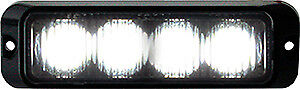 Buyers 8891131 4 Led Surface Mount Strobe Light Clear 19 Flash Patterns