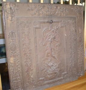 Antique Vintage Iron Fireplace Insert Surround And Insert