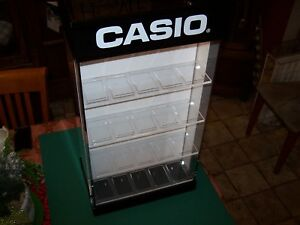 Counter Top Acrylic Jewelry Display Spinner Casio Case