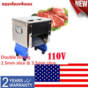 Electric Meat Slicer Food Cutter Machine Double Slicing 2 5mm Slice