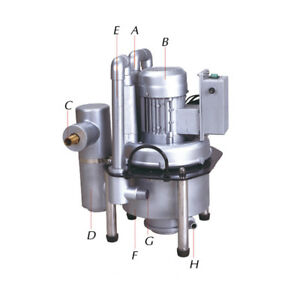 Gm f02 Dental Suction Unit Vacuum Compressor Used For Two Dental Chairs 110v Pt