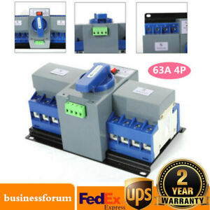New 63a 4p Dual Power Automatic Transfer Switch Cb Level M6 Generator Self Cast