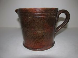 Antique Redware Creamer Or Pitcher 19th Century American Earthenware