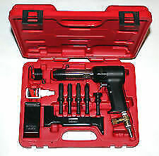 Aircraft Tools New Deluxe 737 Red Box 2x Rivet Gun Kit With Blocks Snaps