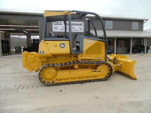 1995 John Deere 450g Lt Dozer With Winch Good Shape Ex Government Low Hours
