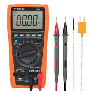 Proster Digital Multimeter 3999 Lcd Auto Ranging Multi Meter With Capacitance