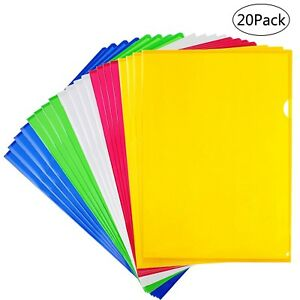 Loves Clear Document Folder Project Pockets A4 Size Set Of 20 In 5 Assorted