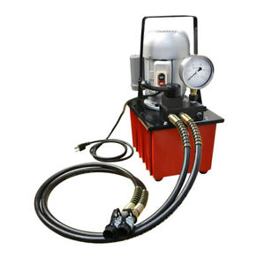 Electric Manual Air Pumper Double Acting Hydraulic Hand Pump 8l Oil Power 10 000