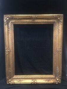 Antique Gold Gilt Gesso Large Wood Picture Frame 42 X34 1800 S Nice Original