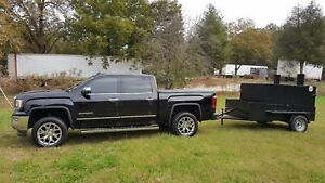 Double Rib Master Bbq Smoker Grill Trailer Food Truck Concession Street Vendor
