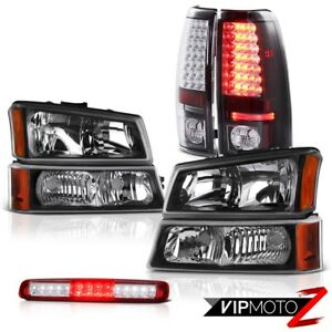 03 06 Chevy Silverado Headlights Red Clear High Stop Lamp Parking Brake Lights